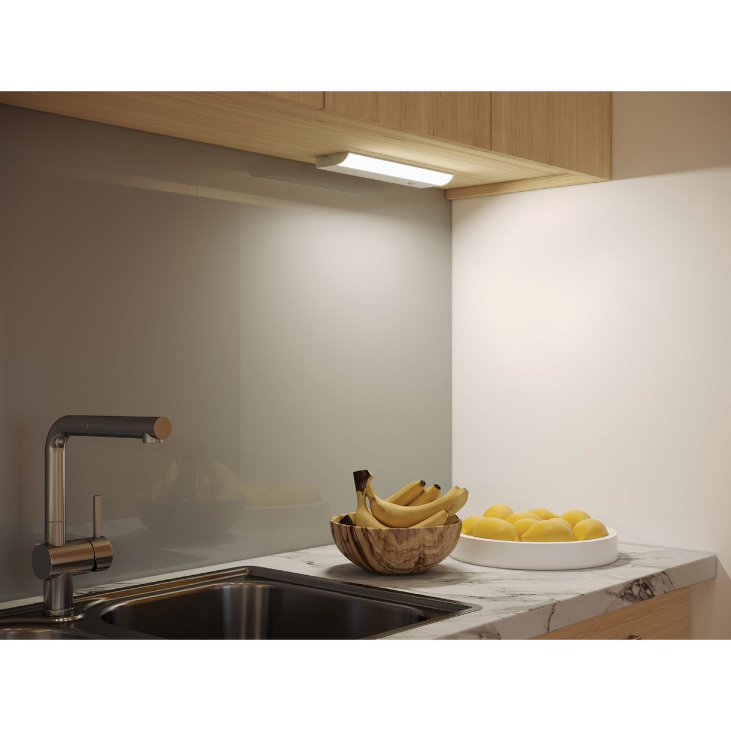 Good Earth Lighting  12 In. Direct Wire White LED Under Cabinet Light Bar Image 2