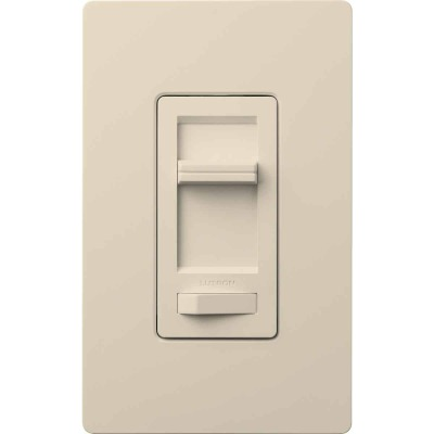 Lutron Lumea Incandescent/Halogen/LED/CFL Light Almond Slide Dimmer Switch