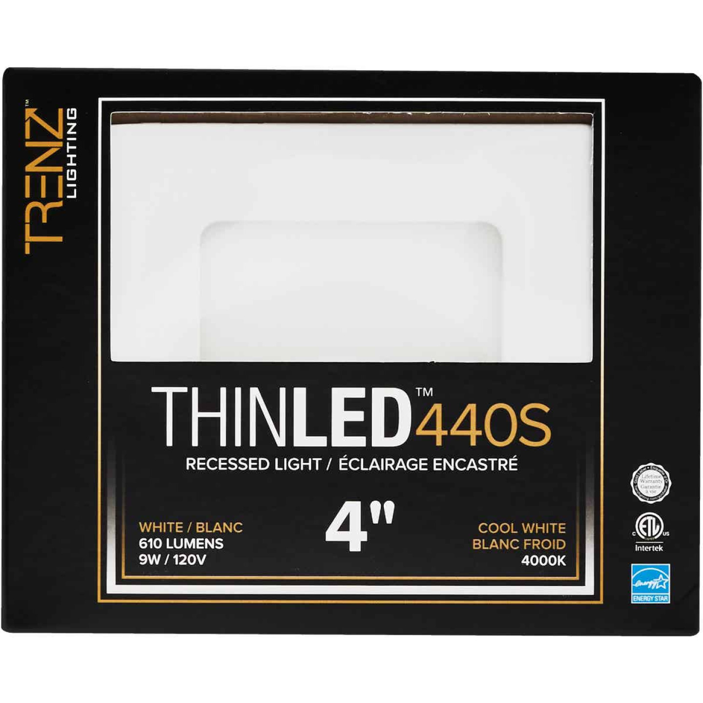 Liteline Trenz ThinLED 4 In. New Construction/Remodel IC White 610 Lm. 4000K Square Recessed Light Kit Image 2