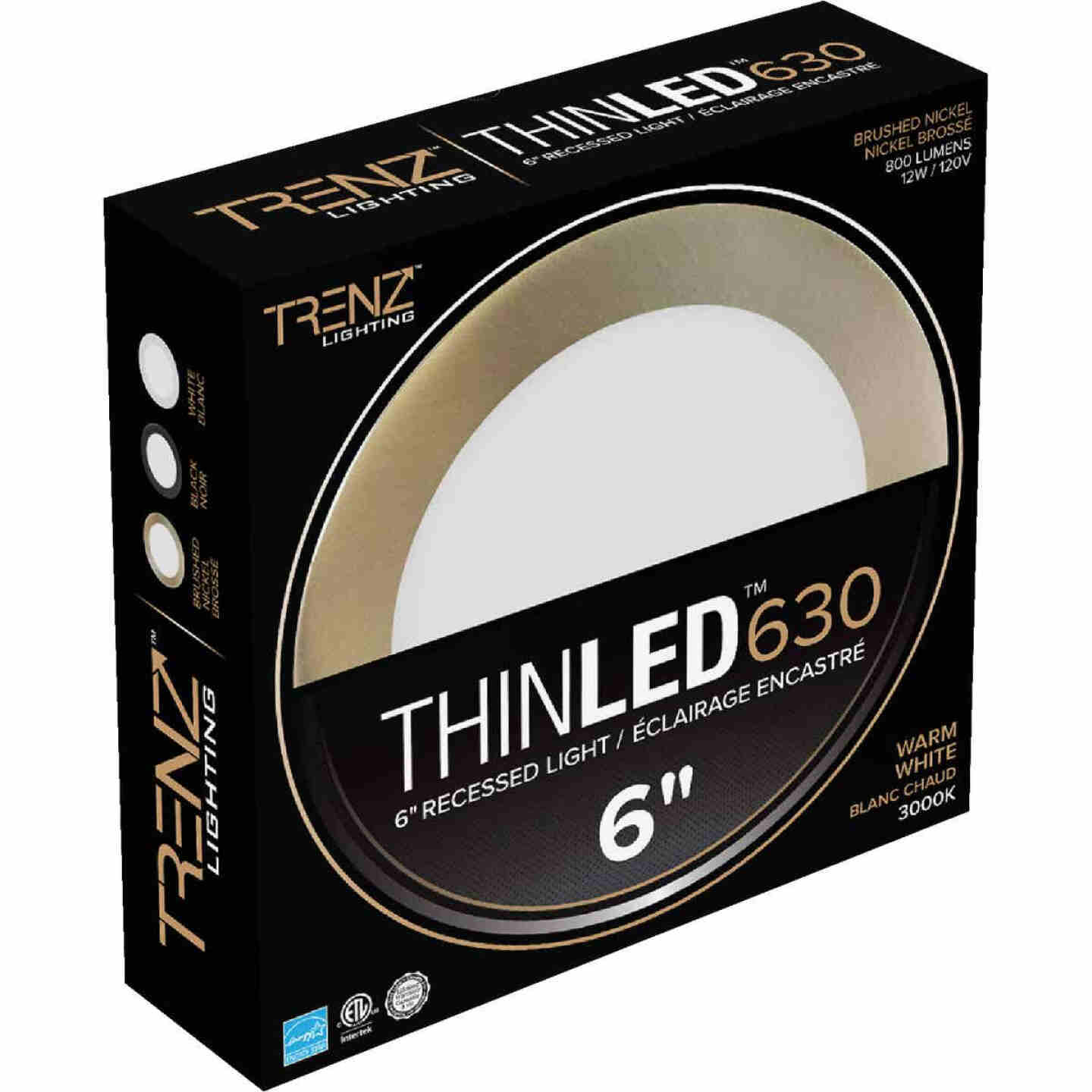Liteline Trenz ThinLED 6 In. New Construction/Remodel IC Rated White 800 Lm. 3000K Recessed Light Kit Image 1