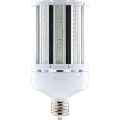 Satco Hi-Pro 100W Clear Corn Cob Mogul Extended Base LED High-Intensity Light Bulb w/Safety Chain
