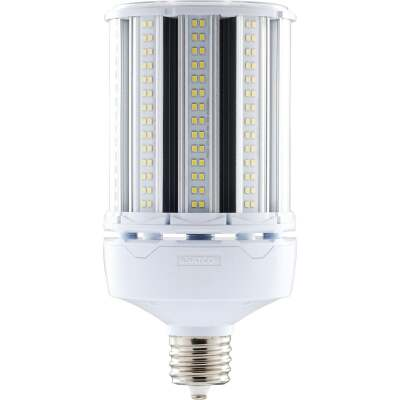 Satco Hi-Pro 100W Clear Corn Cob Mogul Extended Base LED High-Intensity Light Bulb w/Safety Chain