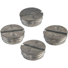 Bell 1/2 In. Weatherproof Gray Closure Plug (4-Pack) Image 1