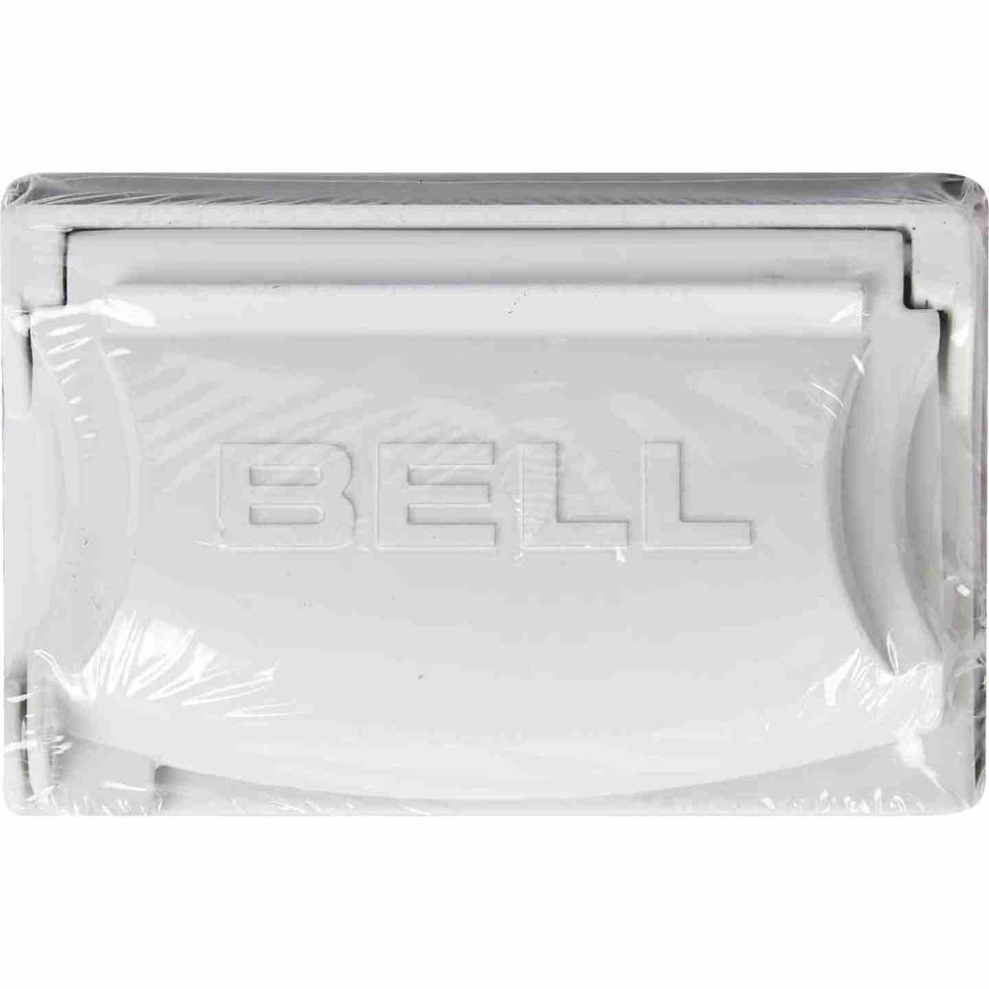 Bell Single Gang Multi-Configuration Die-Cast Metal White Outdoor Outlet Cover Image 2