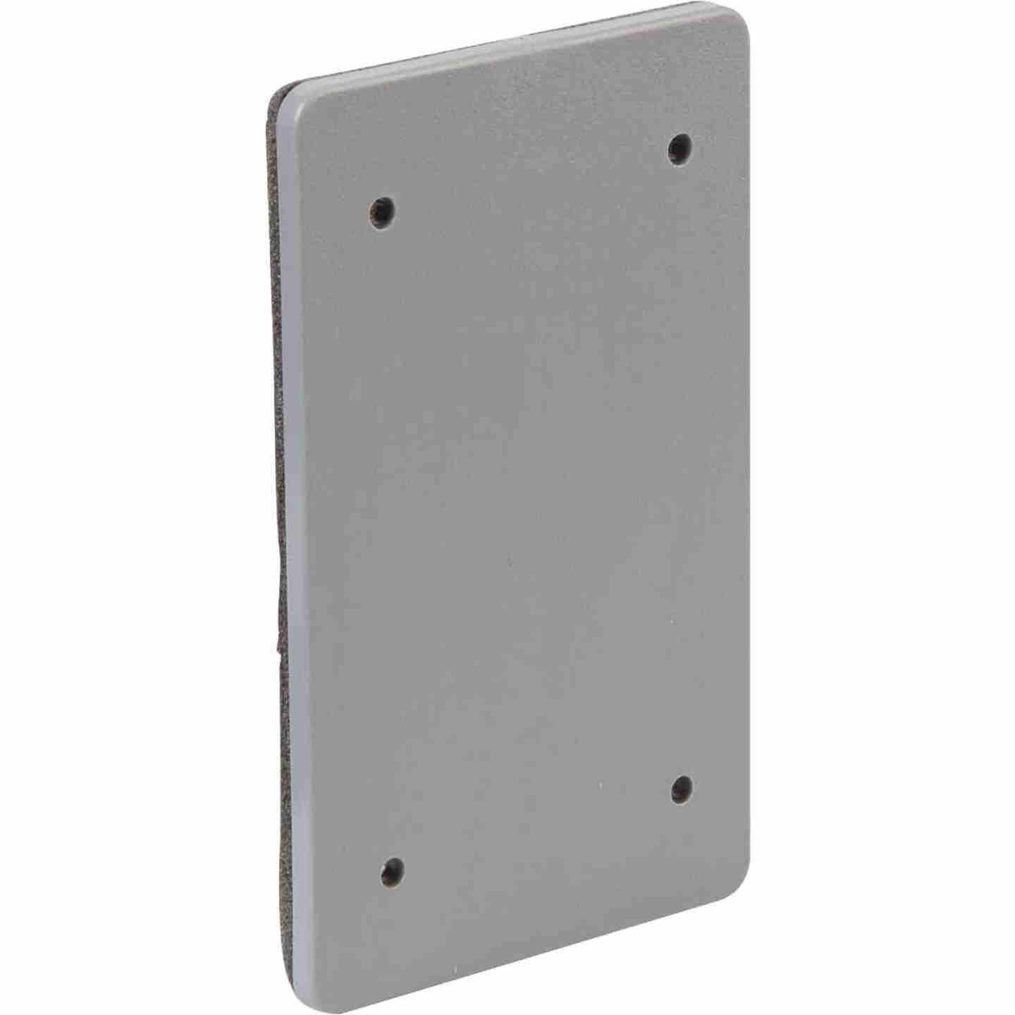 Bell Single Gang Blank Rectangular Polycarbonate Gray Weatherproof Outdoor Box Cover Image 3