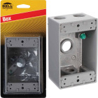 Bell Single Gang 1/2 In. 4-Outlet Gray Weatherproof Die-Cast Aluminum Outdoor Outlet Box Image 1