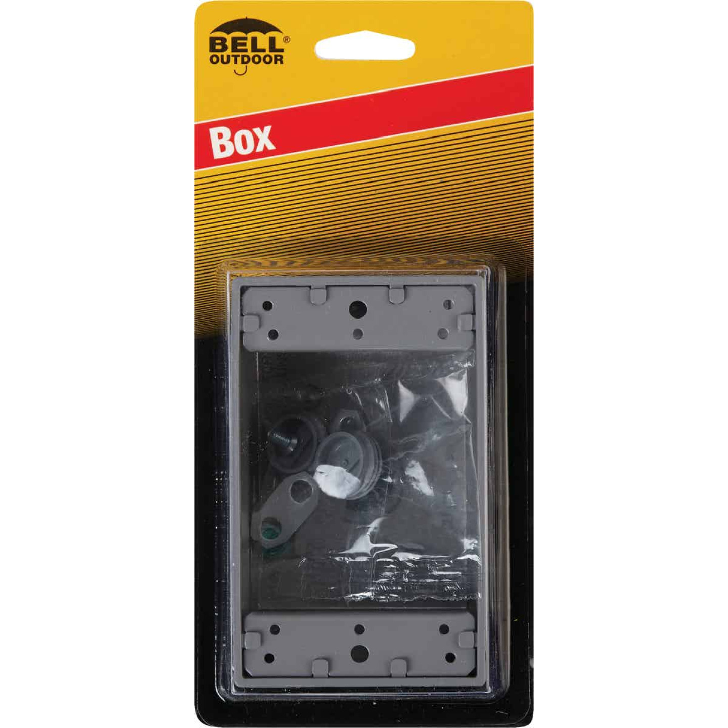 Bell Single Gang 1/2 In. 4-Outlet Gray Weatherproof Die-Cast Aluminum Outdoor Outlet Box Image 2