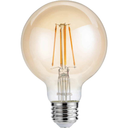 Philips Vintage Edison 40W Equivalent Soft White G25 Medium LED Decorative Light Bulb