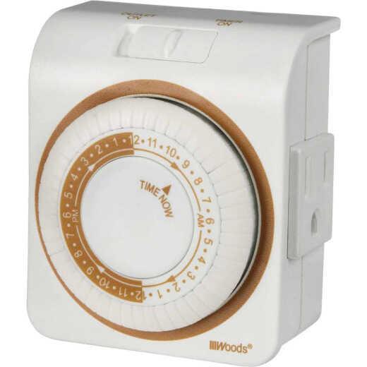 Woods 125V Indoor Mechanical Timer