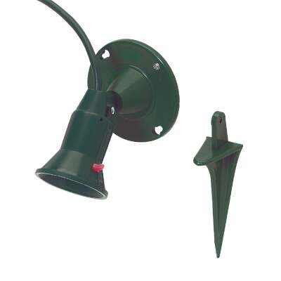 Do it 150W Plastic PAR38 Green Weatherproof Outdoor Lampholder