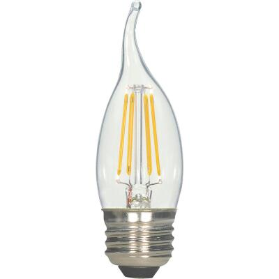 Satco 40W Equivalent Warm White CA11 Medium LED Decorative Light Bulb