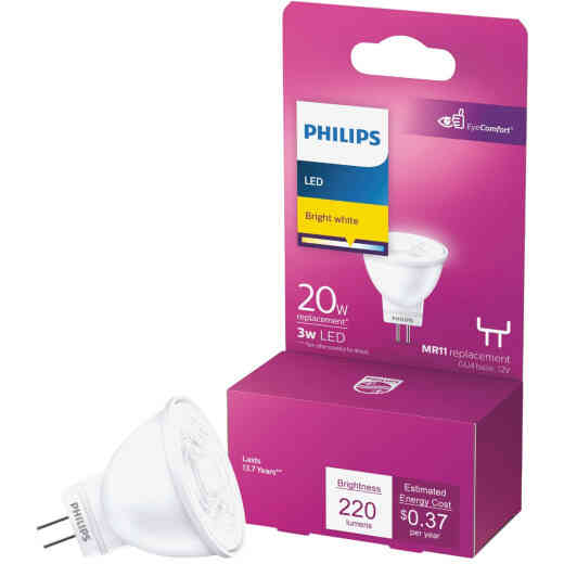 Philips 20W Equivalent Bright White MR11 Bi-Pin LED Floodlight Light Bulb