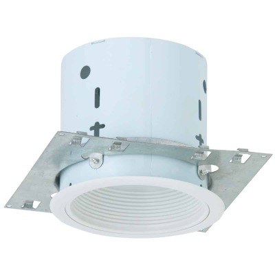Thomas 5 In. New Construction/Remodel Non-IC Rated White Baffle Recessed Light Kit
