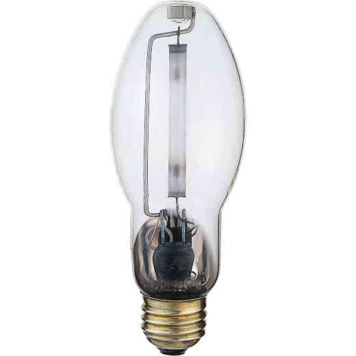 Satco 150W Clear ED17 Medium High-Pressure Sodium High-Intensity Light Bulb