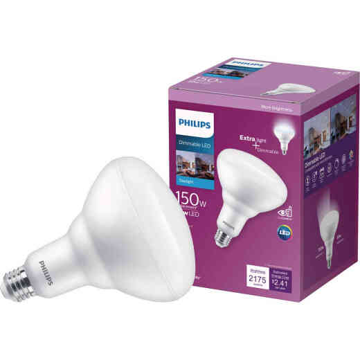 Philips 150W Equivalent Daylight BR40 Medium Dimmable LED Floodlight Light Bulb