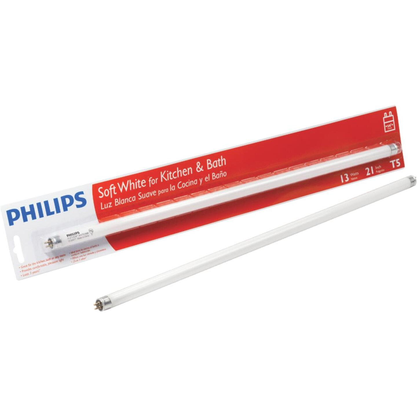 Philips 13W 21 In. Bright White T5 Miniature Bi-Pin Fluorescent Tube Light Bulb Image 1