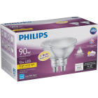 Philips 90W Equivalent Bright White PAR38 Medium Indoor/Outdoor LED Floodlight Light Bulb (2-Pack) Image 4