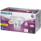 Philips 90W Equivalent Bright White PAR38 Medium Indoor/Outdoor LED Floodlight Light Bulb (2-Pack) Image 5