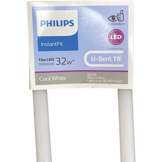 Philips InstantFit 32W Equivalent 24 In. Cool White T8 U-Bent Bi-Pin LED Tube Light Bulb