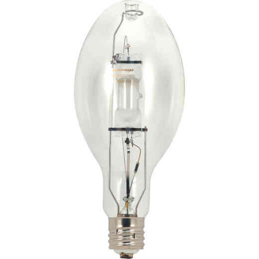 Satco 250W Clear ED28 Mogul Screw Metal Halide High-Intensity Light Bulb