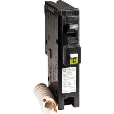 Square D Homeline 20A Single-Pole CAFCI Combination Arc Fault Breaker