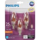 Philips Vintage Edison 25W Equivalent Soft White B11 Candelabra LED Decorative Light Bulb (3-Pack) Image 2