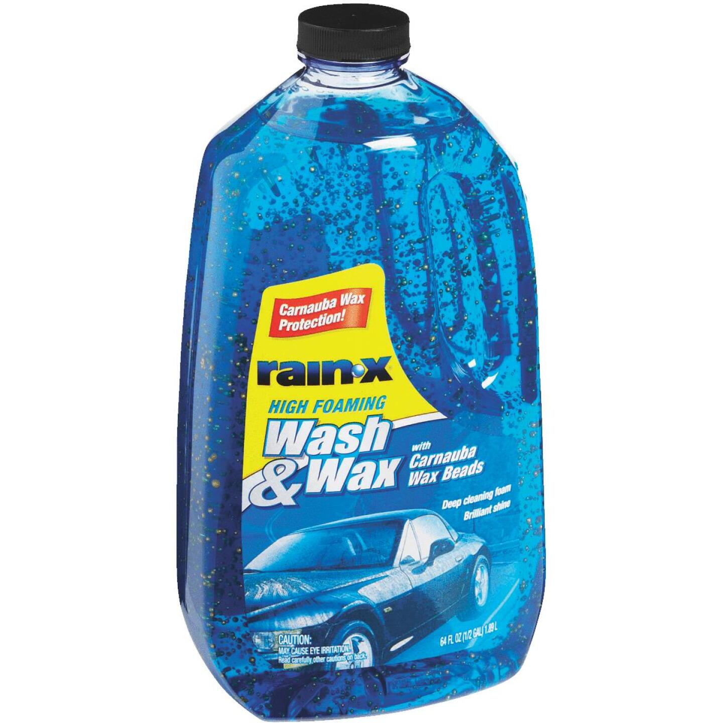 RAIN-X 64 oz Foam with Carnauba Wax Beads Car Wash Image 2