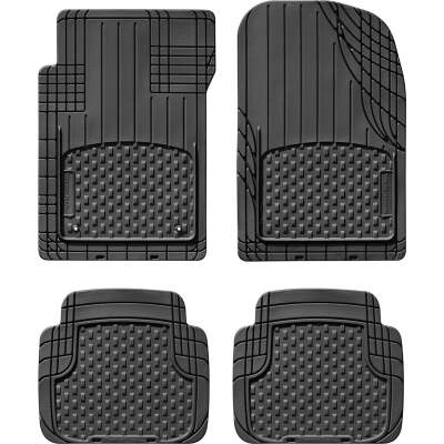 WeatherTech Trim-to-Fit Black Rubber Floor Mat (4-Piece)
