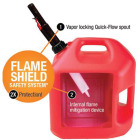Midwest Can 2 Gal. Plastic Auto Shut-Off Gasoline Fuel Can, Red Image 2