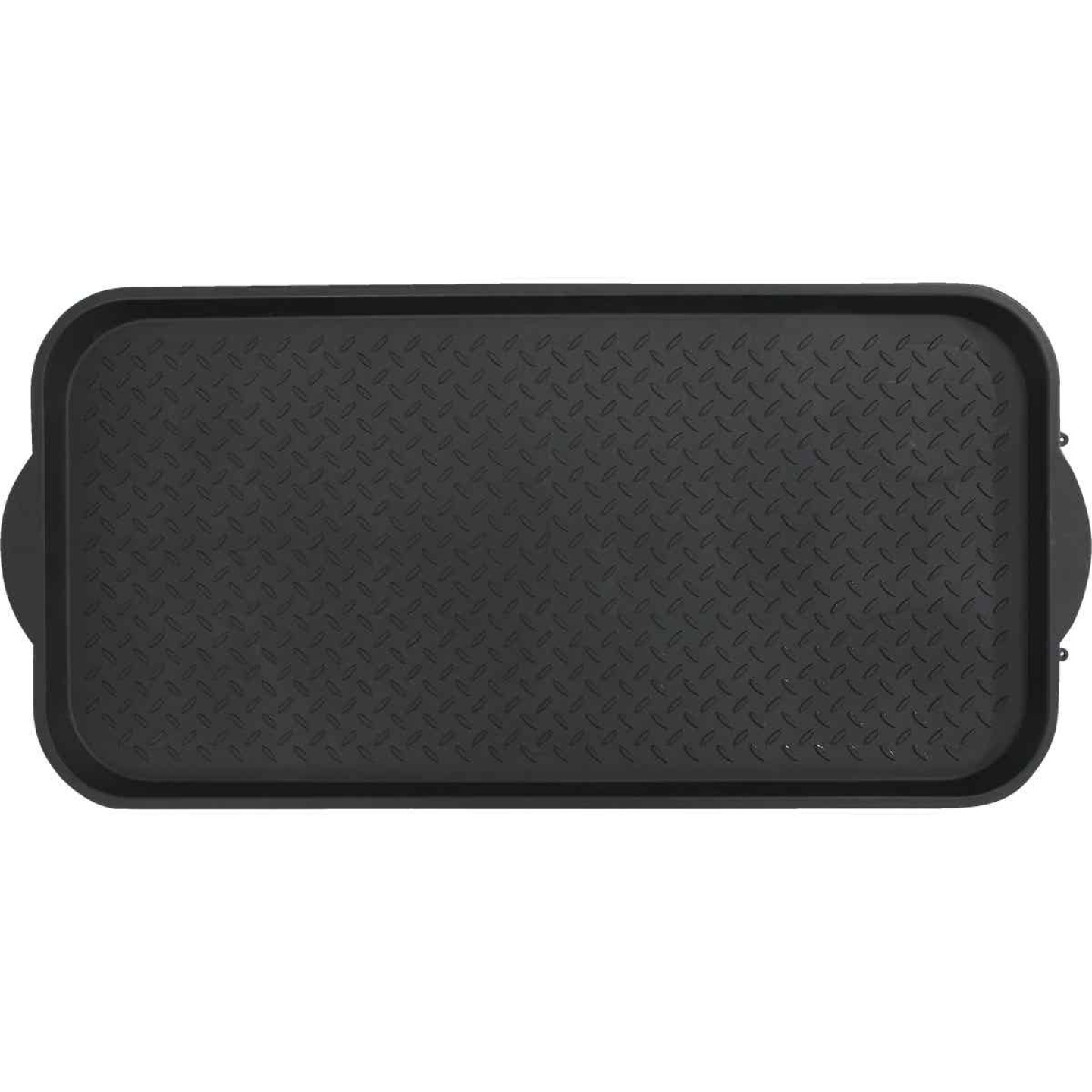 XL 18.9 In. x 39.3 In. Black Recycled Plastic Boot Tray Image 4