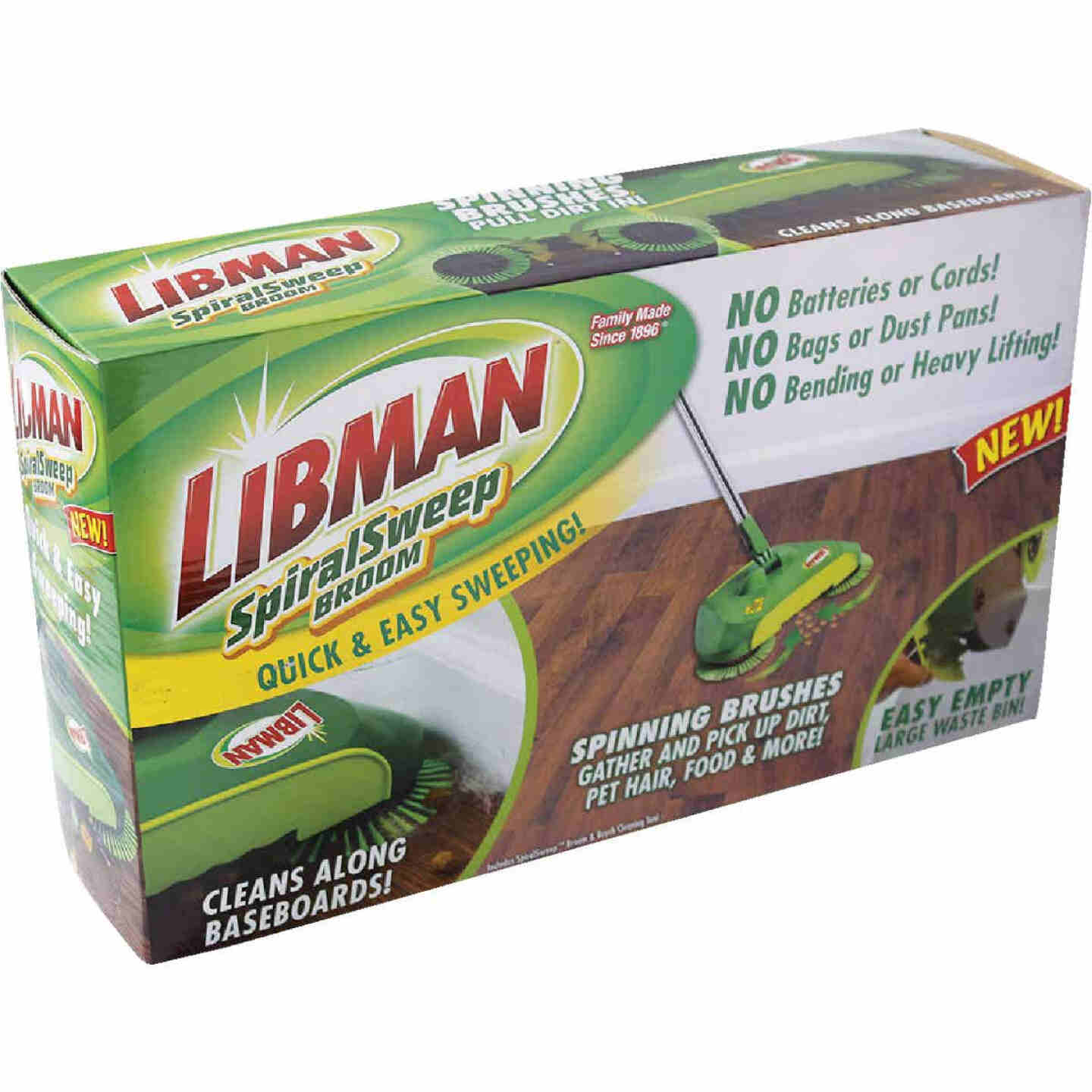 Libman SpiralSweep 12 In. W. x 45 In. L. Steel Handle Broom Image 2
