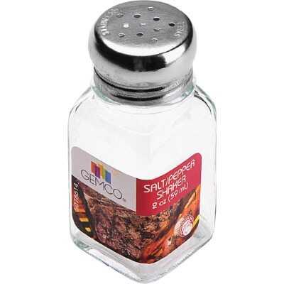 Gemco 2 Oz. Glass Square Salt & Pepper Shaker Set