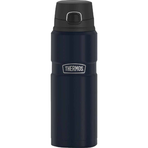 Thermos Stainless King 24 Oz. Matte Blue Stainless Steel Drink Bottle