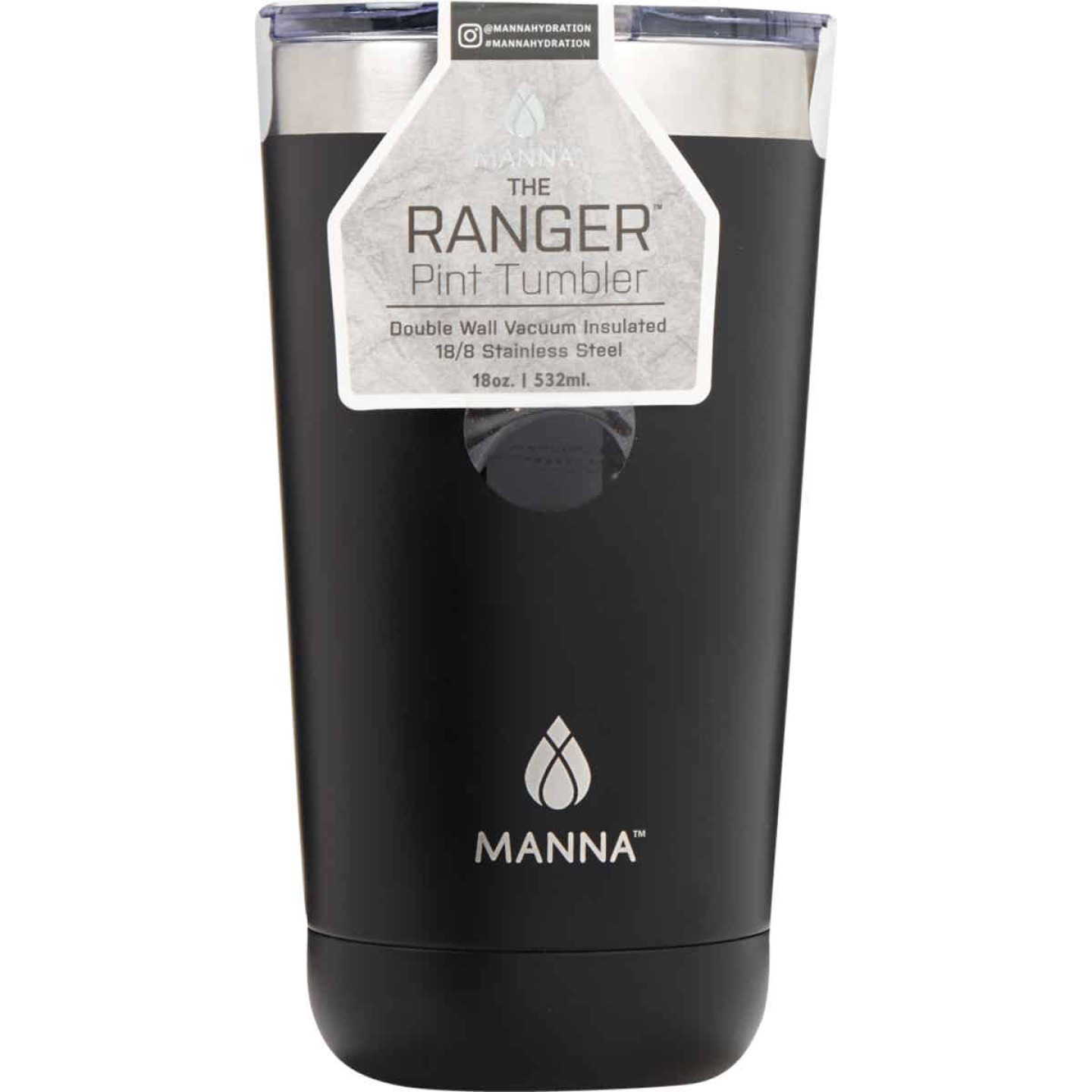 Manna Ranger 18 Oz. Onyx Black Insulated Tumbler Image 1