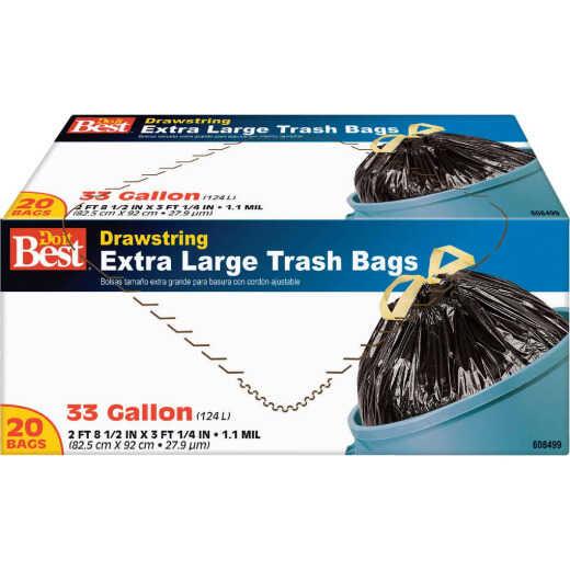 Do it Best 33 Gal. Extra Large Black Trash Bag (20-Count)