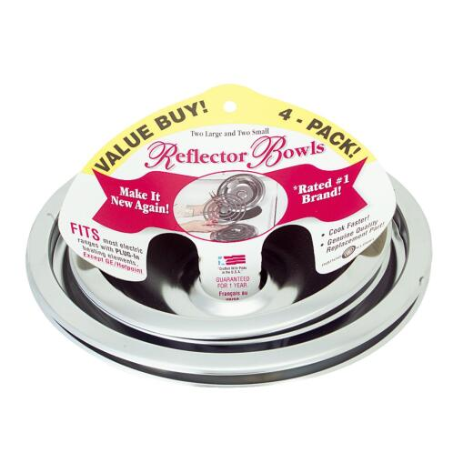 "Range Kleen Electric (2) 6"" & (2) 8"" Style A Round Chrome Drip Pan"