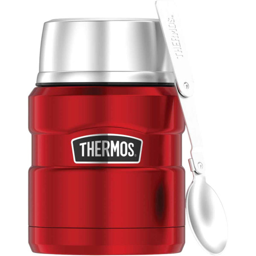 Thermos Stainless King 16 Oz. Matte Red Stainless Steel Food Jar With Spoon