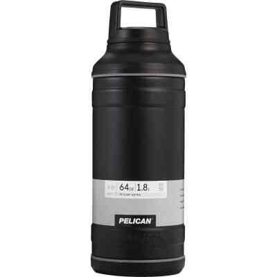Pelican 64 Oz. Black Stainless Steel Travel Bottle