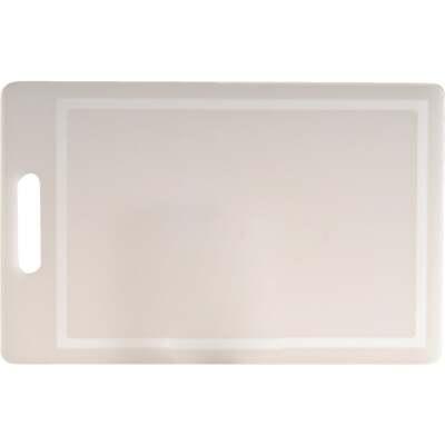 Norpro 10 In. x 16 In. White Polyethylene Professional Cutting Board