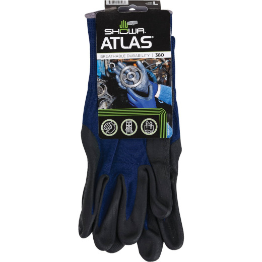Showa Atlas Men's Large Comfort Grip Nitrile Coated Glove