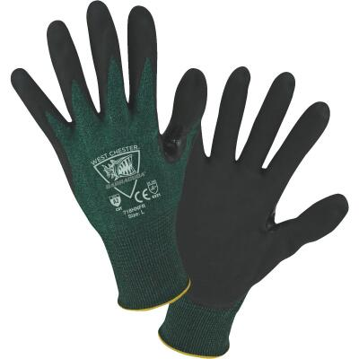 West Chester Protective Gear Barracuda Men's Large 18-Gauge Nitrile Coated Glove