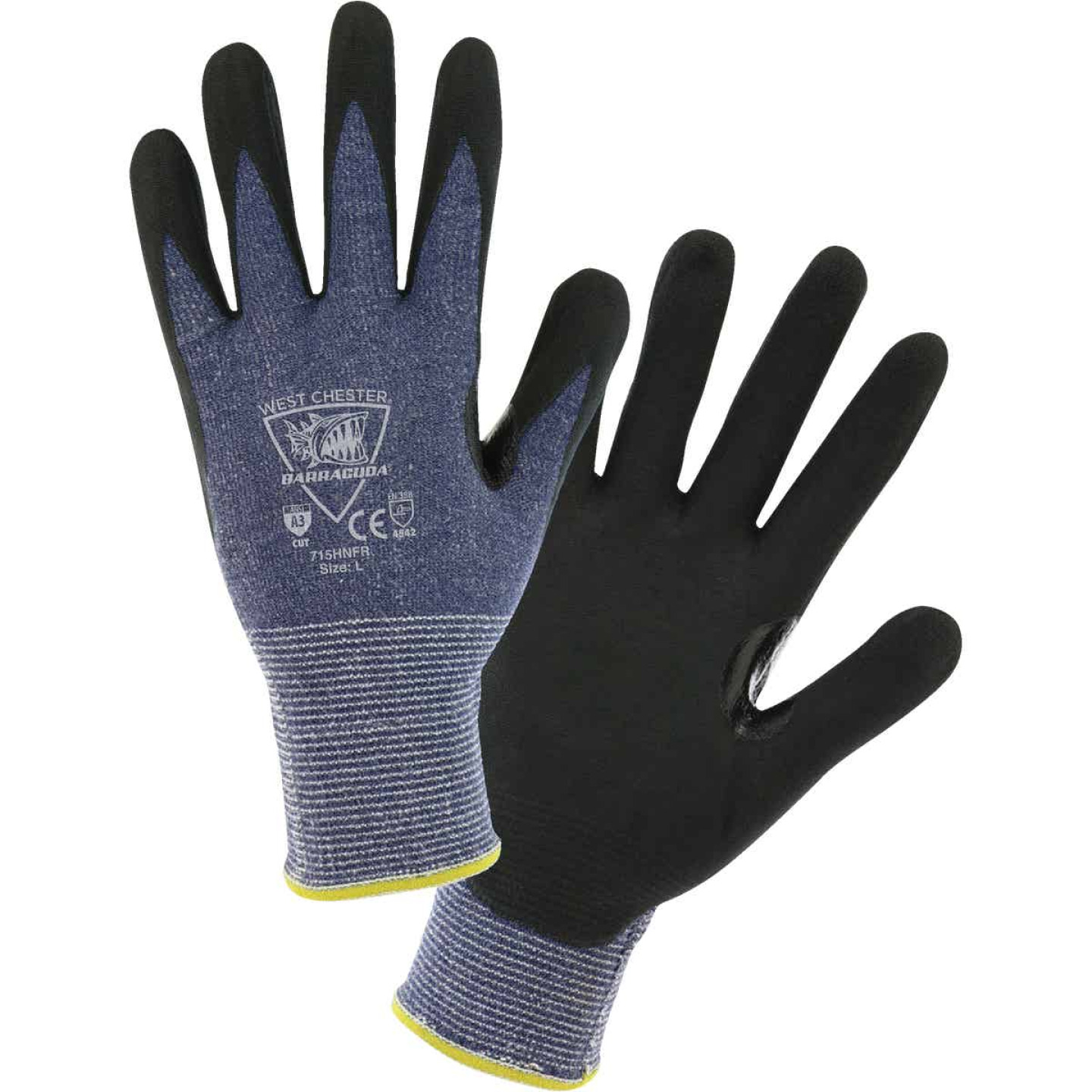 West Chester Protective Gear Barracuda Men's Large 15-Gauge Nitrile Coated Glove Image 1