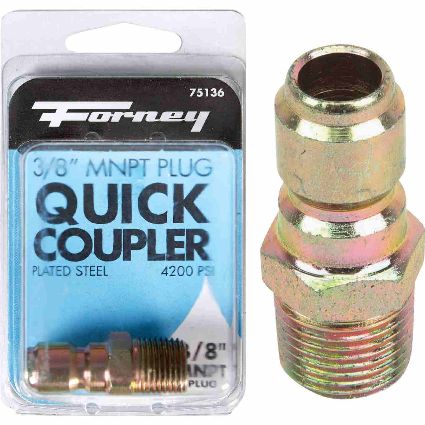 Forney 3/8 In. Male Quick Connect Pressure Washer Plug Image 1
