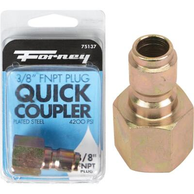 Forney 3/8 In. Female Quick Connect Pressure Washer Plug