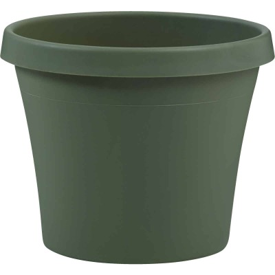 Bloem Terra Living Green 10.67 In. H. x 12 In. Dia. Polypropylene Planter