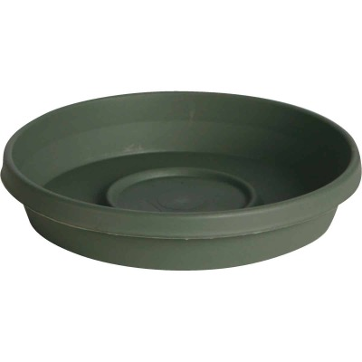 Bloem Terra Living Green 14 In. Plastic Flower Pot Saucer