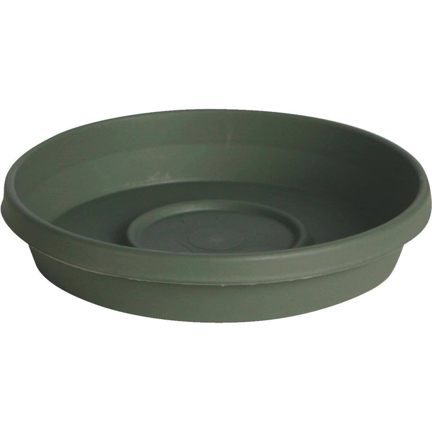 Bloem Terra Living Green 14 In. Plastic Flower Pot Saucer Image 1