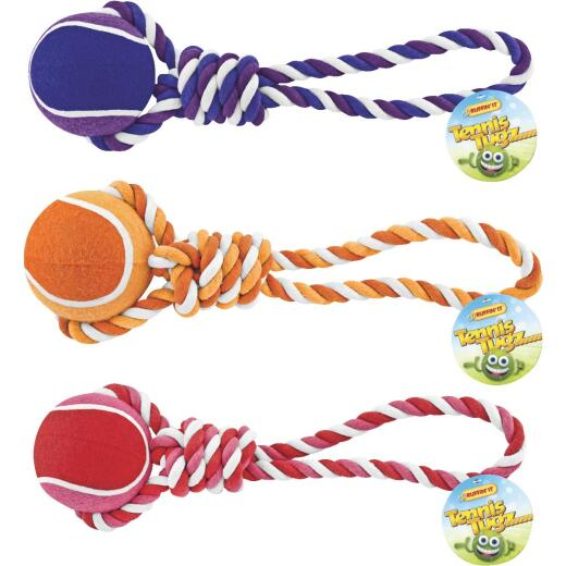 Westminster Pet Ruffin' it Giant Tennis Ball Rope Tug Dog Toy