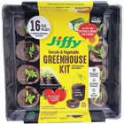 Jiffy 16-Cell 11 In. W. x 11 In. L. Seed Starter Greenhouse Kit with Superthrive Image 1
