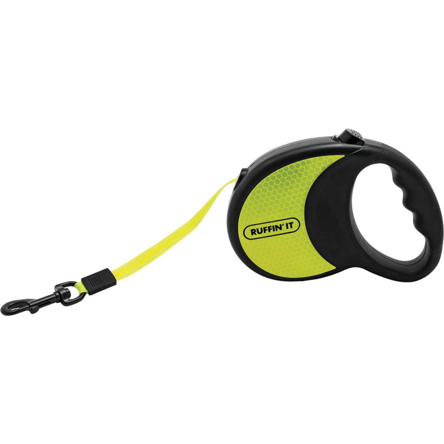 Westminster Pet Ruffin' it 16 Ft. Webbed Reflective Neon Yellow Up to 50 Lb. Dog Retractable Leash Image 2